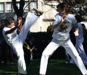 Capoeira demo at Stanford